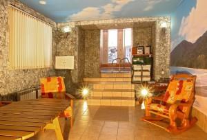Сауна санатория, комната отдыха